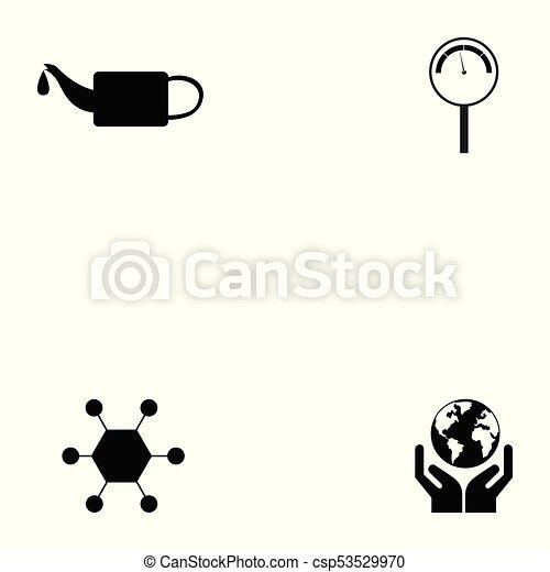 oil icon set - csp53529970