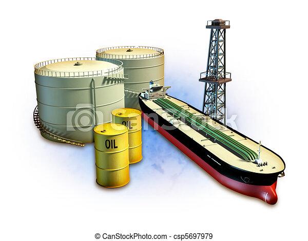 Oil industry - csp5697979