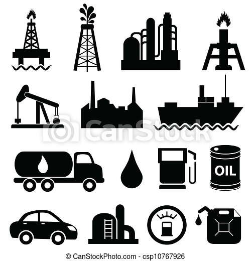 Oil industry icon set - csp10767926