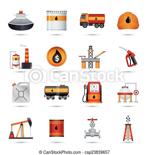 Oil Industry Icons - csp23839657