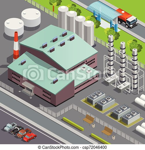 Oil Isometric Composition - csp72046400
