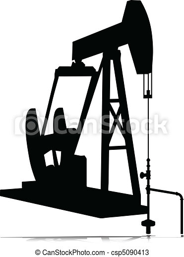 oil jack vector silhouettes - csp5090413
