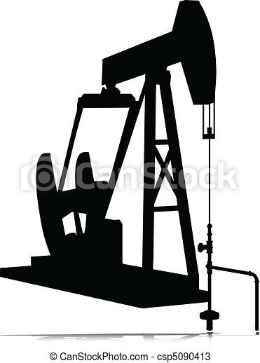 oil jack vector silhouettes - csp5090413