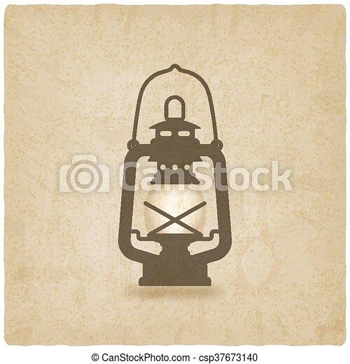 Oil Lantern Old Background