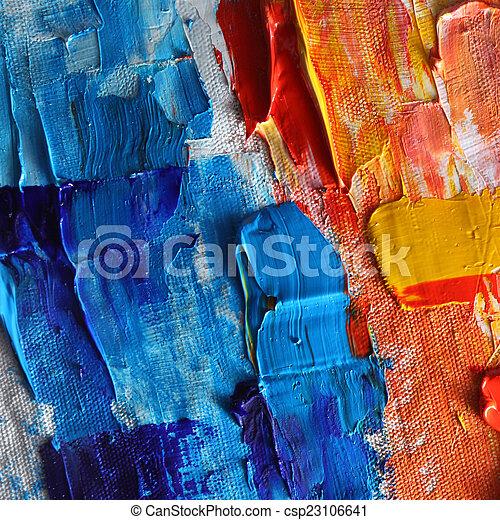 oil paint  - csp23106641