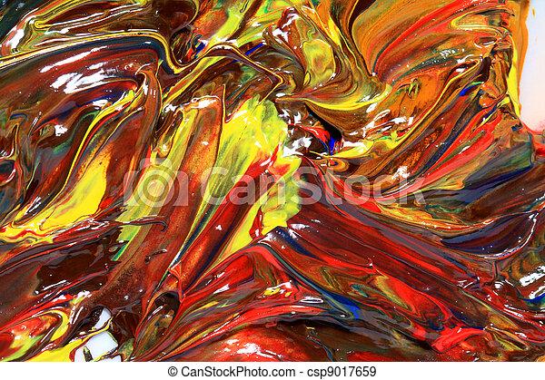 oil paint - csp9017659