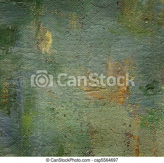 oil painted canvas, nice grunge textured background - csp5564697