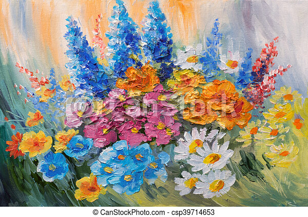 Oil painting abstract bouquet of spring flowers colorful watercolor oil painting abstract bouquet of spring flowers colorful watercolor csp39714653 mightylinksfo