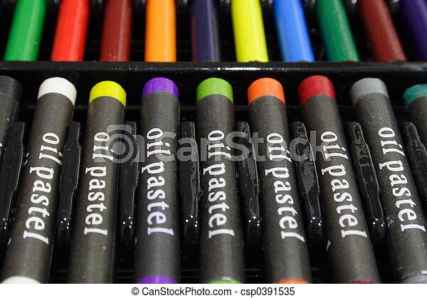 Oil Pastels - csp0391535