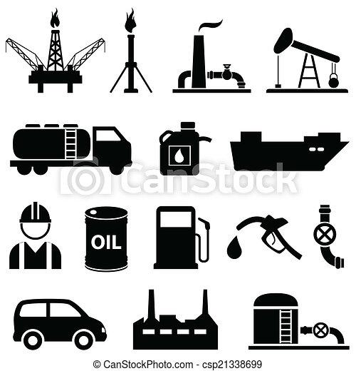 Oil, petroleum and gasoline icons - csp21338699
