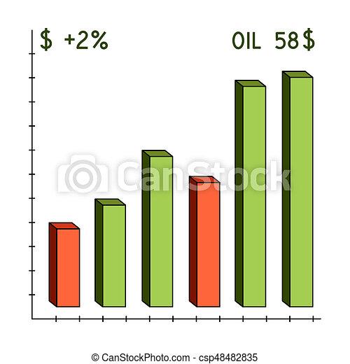 Oil Price Chartoil Single Icon In Cartoon Style Bitmaprastr Symbol