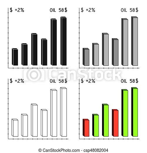 Oil Price Chartoil Single Icon In Cartoon Style Vector Symbol Stock