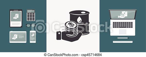Oil price flat icon - csp45714684