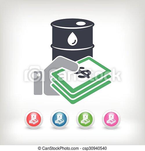 Oil price icon - csp30940540