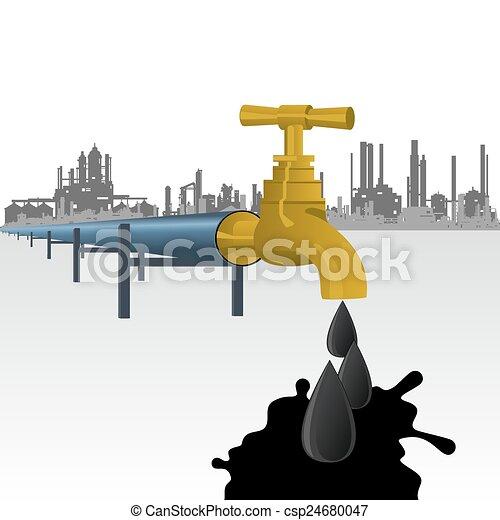 Oil-producing factory - csp24680047