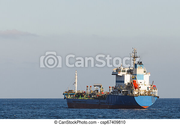 oil products tanker in the open sea - csp67409810