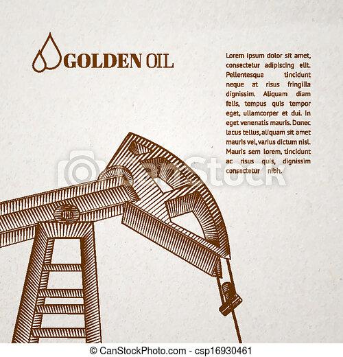 Oil pump jack. - csp16930461