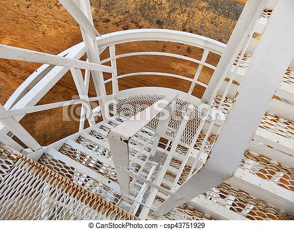 Oil reservoir Stairs. - csp43751929