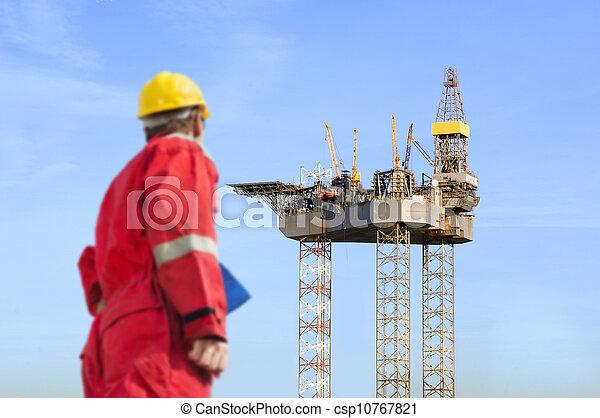 Oil rig construction - csp10767821