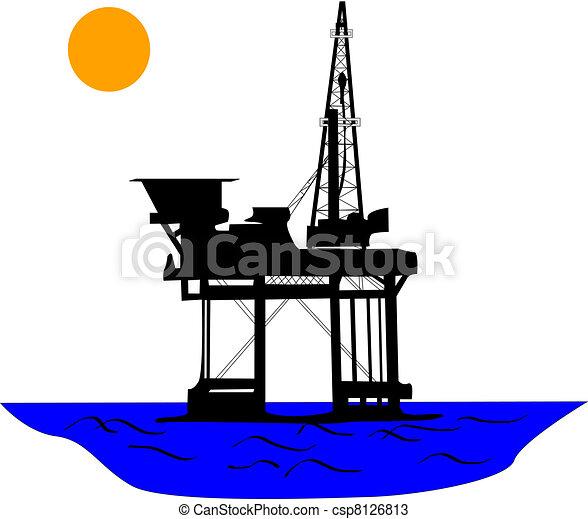 Oil rig - csp8126813