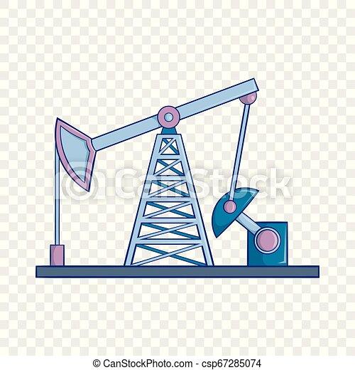 Oil rig icon, cartoon style - csp67285074