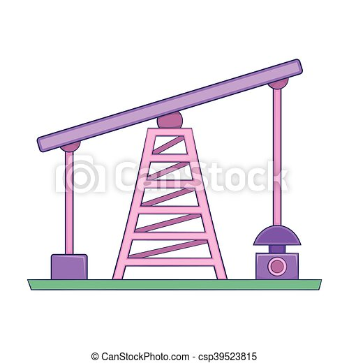 Oil rig icon, cartoon style - csp39523815