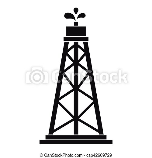 oil rig icon simple style oil rig icon simple vector rh canstockphoto com oil rig derrick clipart