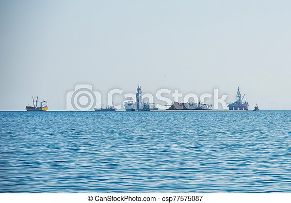 oil rig in Namibia - csp77575087