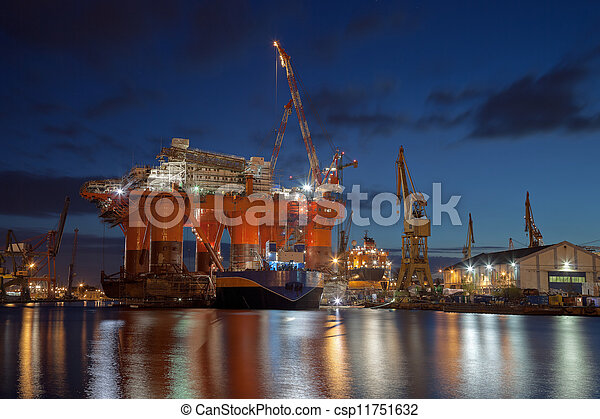 Oil rig in the yards - csp11751632