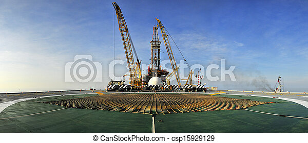 Oil Rig Panoramic - csp15929129