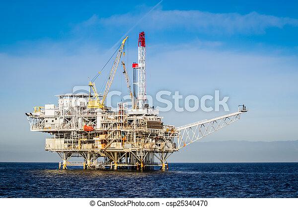 Oil Rig - csp25340470