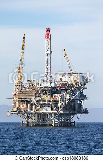 Oil Rig - csp18083186