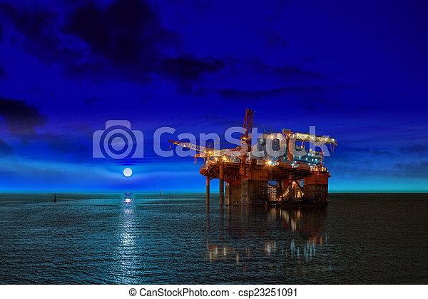 Oil rig platform - csp23251091