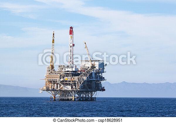 Oil Rig - csp18628951