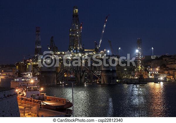 Oil rig - csp22812340