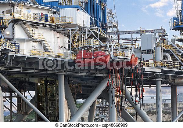 Oil rig - csp48668909