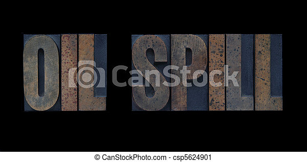 oil spill in wood type - csp5624901