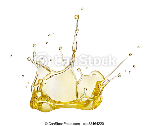 Oil splash on white background - csp83464220