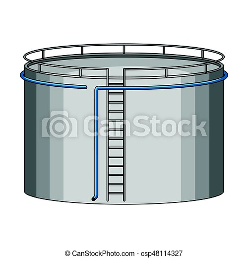 Oil storage tank. Oil single icon in cartoon style vector symbol stock illustration web. - csp48114327