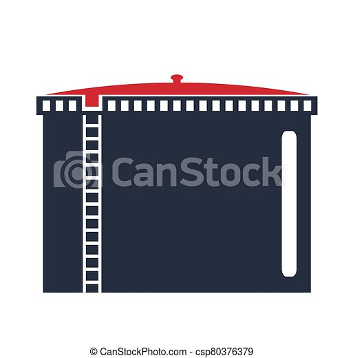 Oil storage tank .Oil single icon in flat style vector symbol stock illustration web. - csp80376379