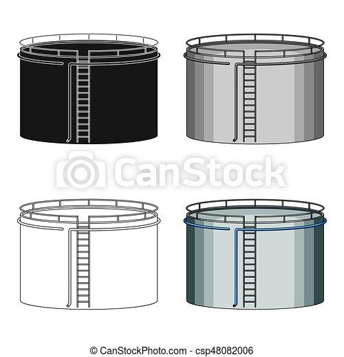 Oil storage tank. Oil single icon in cartoon style vector symbol stock illustration web. - csp48082006