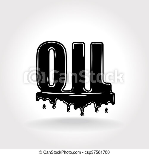 Oil Symbol Stylized Inscription Symbolizing Oil And Petroleum Products