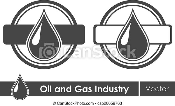 Oil Symbols Corporate Emblem Vector Illustration