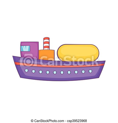 Oil tanker icon, cartoon style - csp39523968