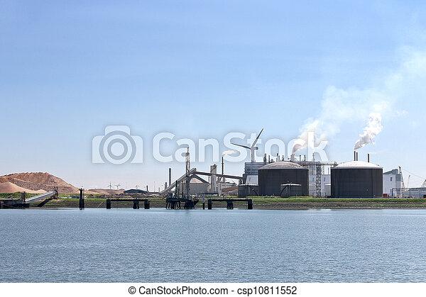 Oil terminal in the Dutch port. Netherlands - csp10811552