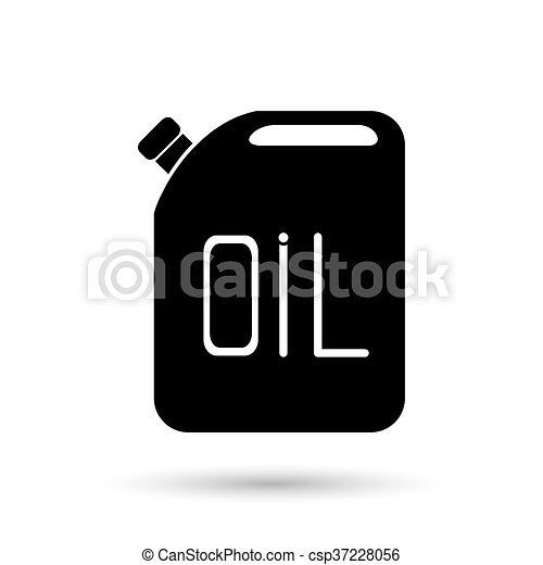 Aceite Jerrycan. Ícono Vector - csp37228056