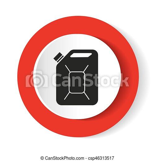 El combustible puede vectorizar el icono. Aceite Jerrycan. Ícono Vector - csp46313517
