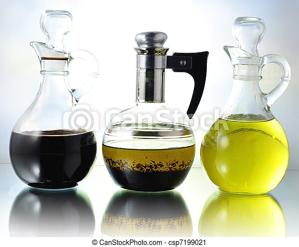 oil , vinegar and salad dressing - csp7199021