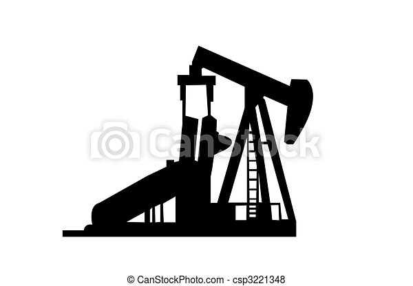 oil well silhouette isolated on a white background stock rh canstockphoto com Oil Derrick Clilpart Oil Derrick Icon