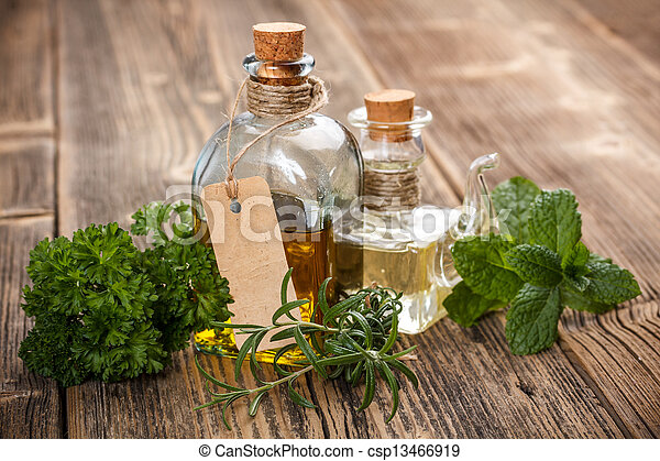 Oil with herbs - csp13466919